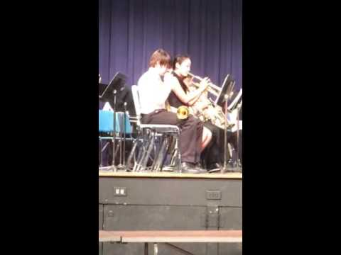 Johnny playing taps at tenafly middle school