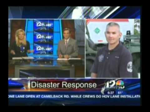 Mesa Fire Department on 12 News discussing Metropolitan Medical Response System