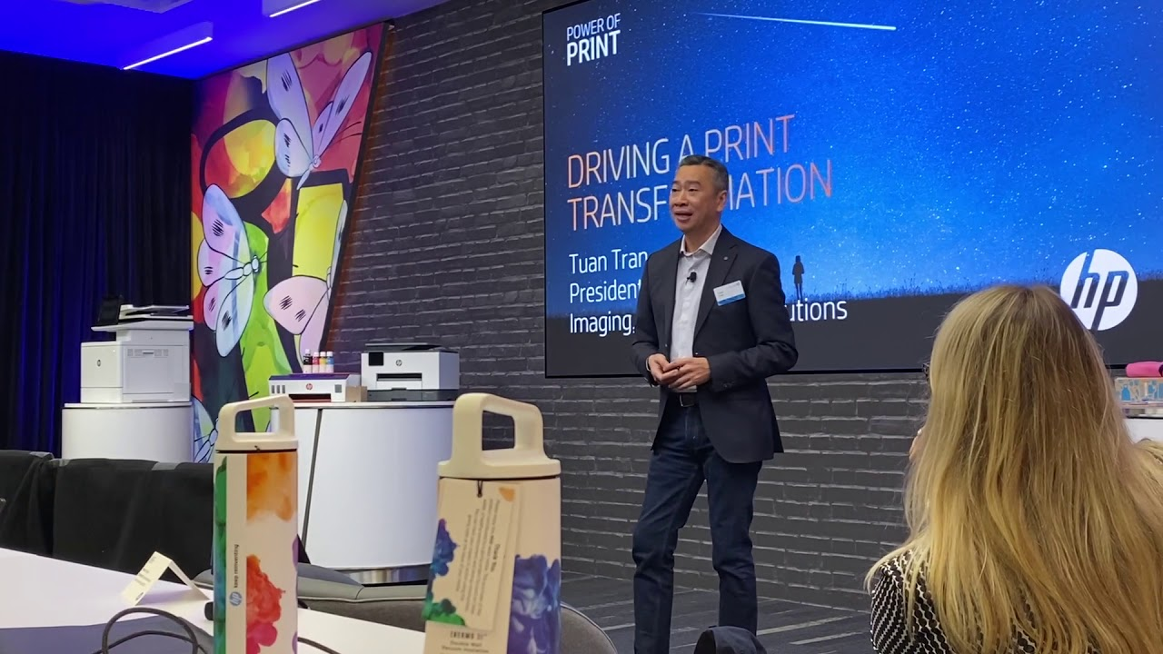 What's Happenin' at HP Power of Print - President Tuan Tran Opens Analyst  Event - YouTube