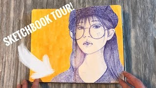 Sketchbook Tour of my first art journal of 2018