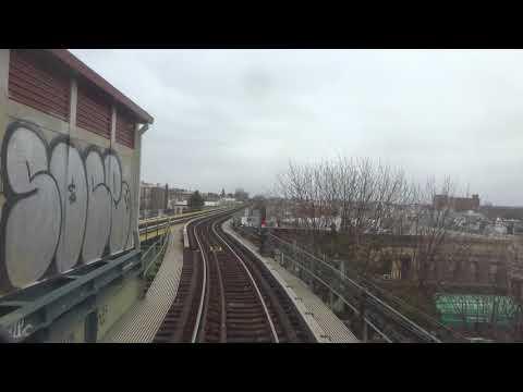 NYC Subway: Anti-Railfan Window R42 (M) From Metropolitan Avenue To Myrtle-Wyckoff Avenues(Track 1)
