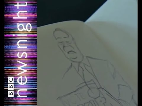 Cartoonist Steve Bell on how to draw Nigel Farage - Newsnight