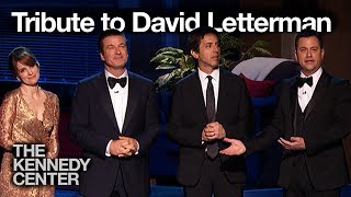 Alec Baldwin, Jimmy Kimmel, Tina Fey and Ray Romano - David Letterman Honors Tribute
