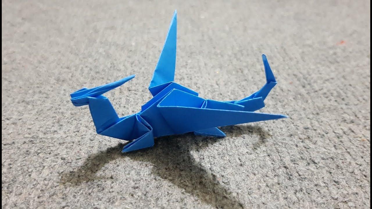 ORIGAMI -  Hướng dẫn cách gấp con rồng đơn giản - Origami Dragon