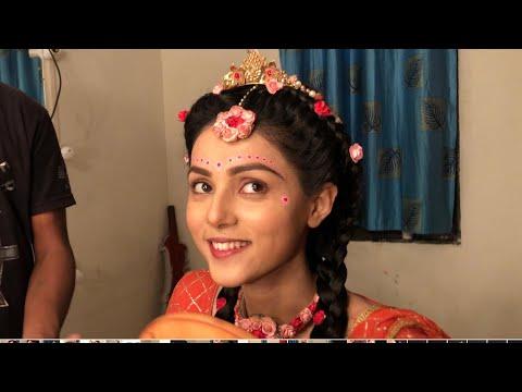 Mallika enjoy in makeup room #RADHAKRISHNA #NEW MAKEOVER