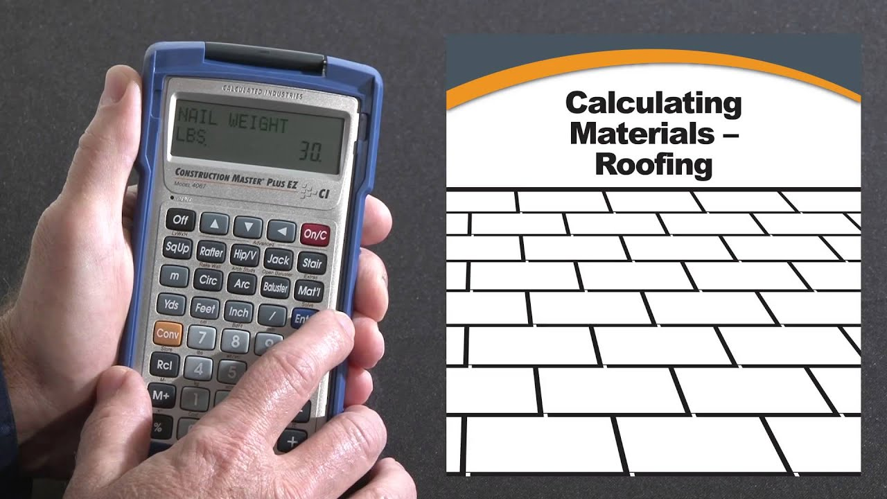 Construction Master Plus EZ Roofing Materials Estimating How To   YouTube