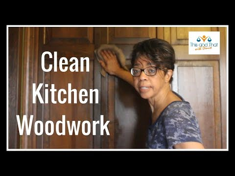Spring Clean with Me 2018 | Best Way to Clean Wood Cabinets in the Kitchen | Clean with Me