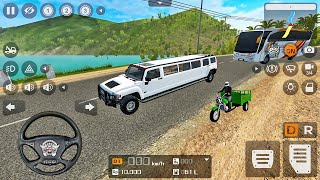 White Hummer H3 Limousine Luxury Car Driving-Bus Simulator Indonesia-Android 게임 플레이