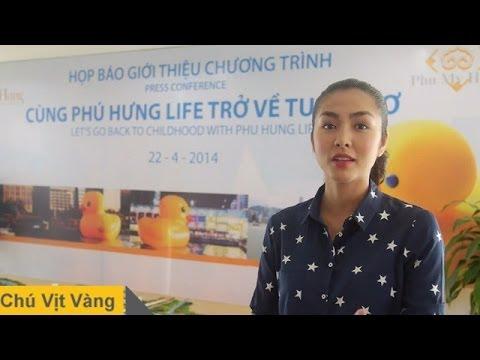 Tăng Thanh Hà trong buổi Họp Báo ra mắt Chú Vịt Vàng 2014 tại Việt Nam