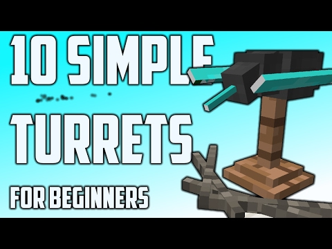 10 Simple Turret Designs For Minecraft (Command Tutorial)