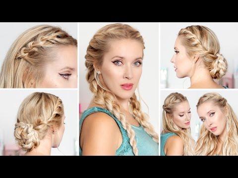 Причёски на каждый день, быстро и легко, в школу/институт/на работу,  для средних/длинных волос
