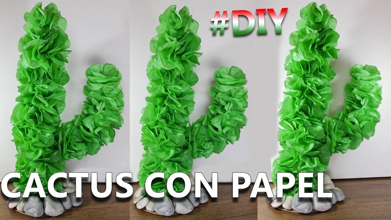 Manualidades mexicanas c mo hacer un cactus de papel - Manualidades para hacer ...