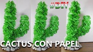 Manualidades mexicanas   Cómo hacer UN CACTUS de PAPEL   Flores del desierto de papel