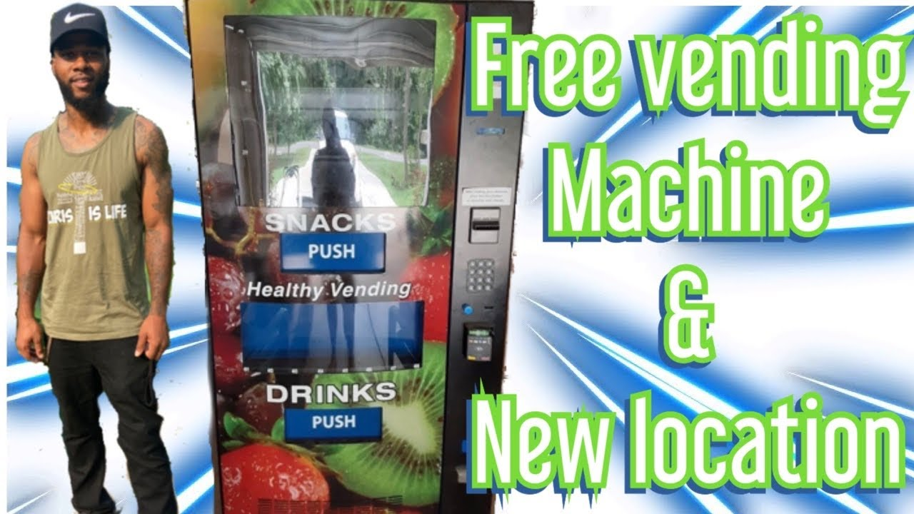 PLACED MY FREE COMBO VENDING MACHINE IN A NEW LOCATION !!!