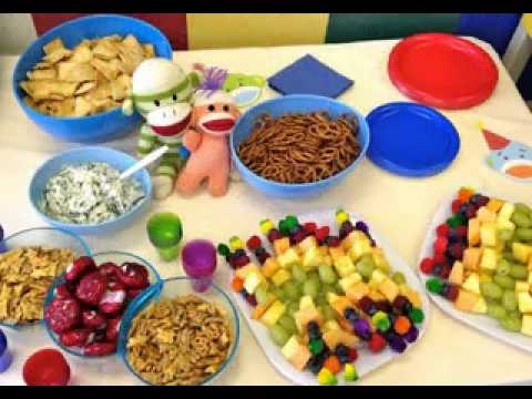 Birthday party food decorations for kids - YouTube