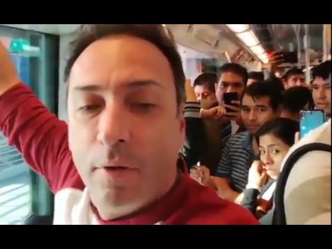 Carlos Galdós entrevista en Línea 1 del Metro de Lima y Callao