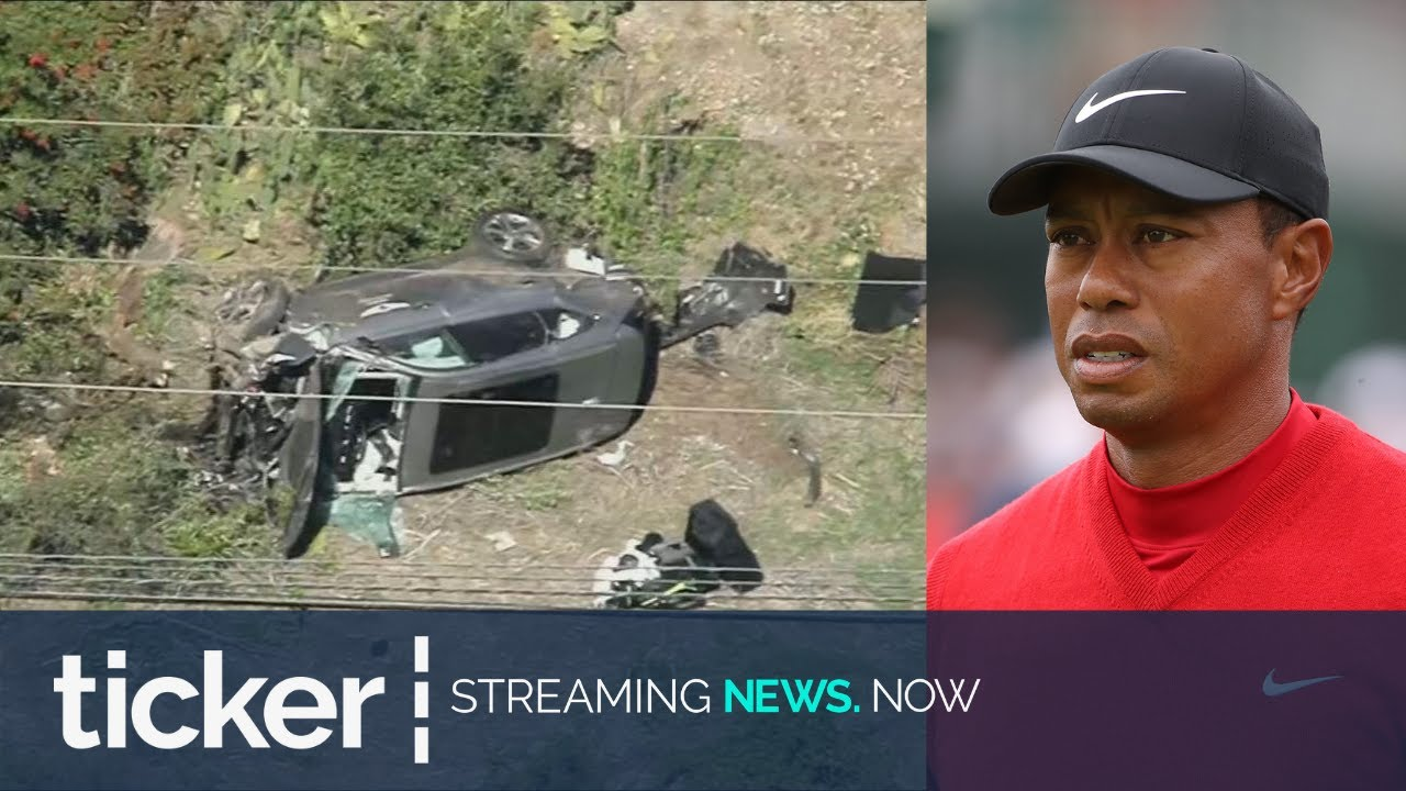 TIGER WOODS HOSPITALISED AFTER SERIOUS CAR CRASH - RIGHT ...