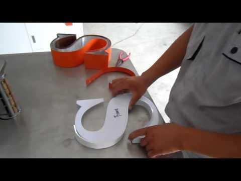 Trim cap channel letters making