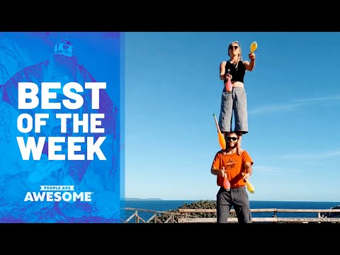 Downhill Bike POV, Kid Aces Pull Ups, Juggling Balance Duo & More! | Best of the Week