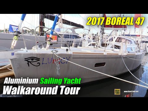 2017 Boreal 47 Aluminum Sailing Yacht - Deck and Interior Walkaround - 2017 Annapolis Boat Show