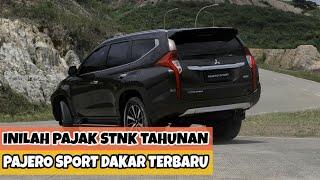 Inilah Biaya Pajak Stnk Tahunan Mitsubishi Pajero Sport Dakar 4x2 Terbaru Youtube