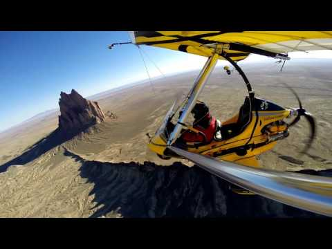 """MONSTER """"Shiprock"""" - fly around in an ultralight trike"""