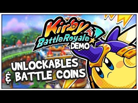 UNLOCKABLES & BATTLE COINS!   Kirby Battle Royale DEMO #3 (Nintendo 3DS Playthrough)