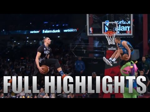 2016 NBA Dunk Contest ALL Zach LaVine & Aaron Gordon DUNKS in HD!