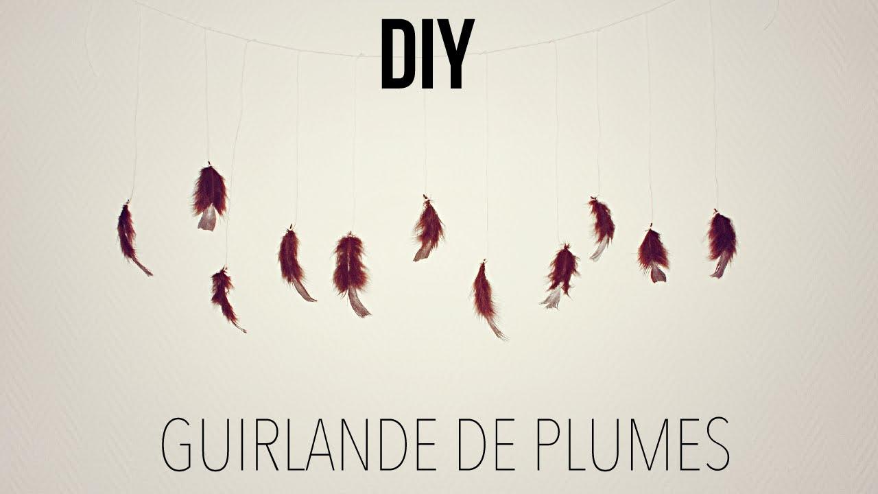 Diy guirlande de plumes alyssia youtube - Guirlande lumineuse plume ...
