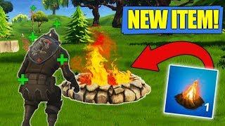 The *NEW* Cozy Campfire Item! New Fortnite Uppdate!