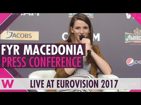 "FYR Macedonia Press Conference 2 — Jana Burčeska ""Dance Alone"" Eurovision 2017 