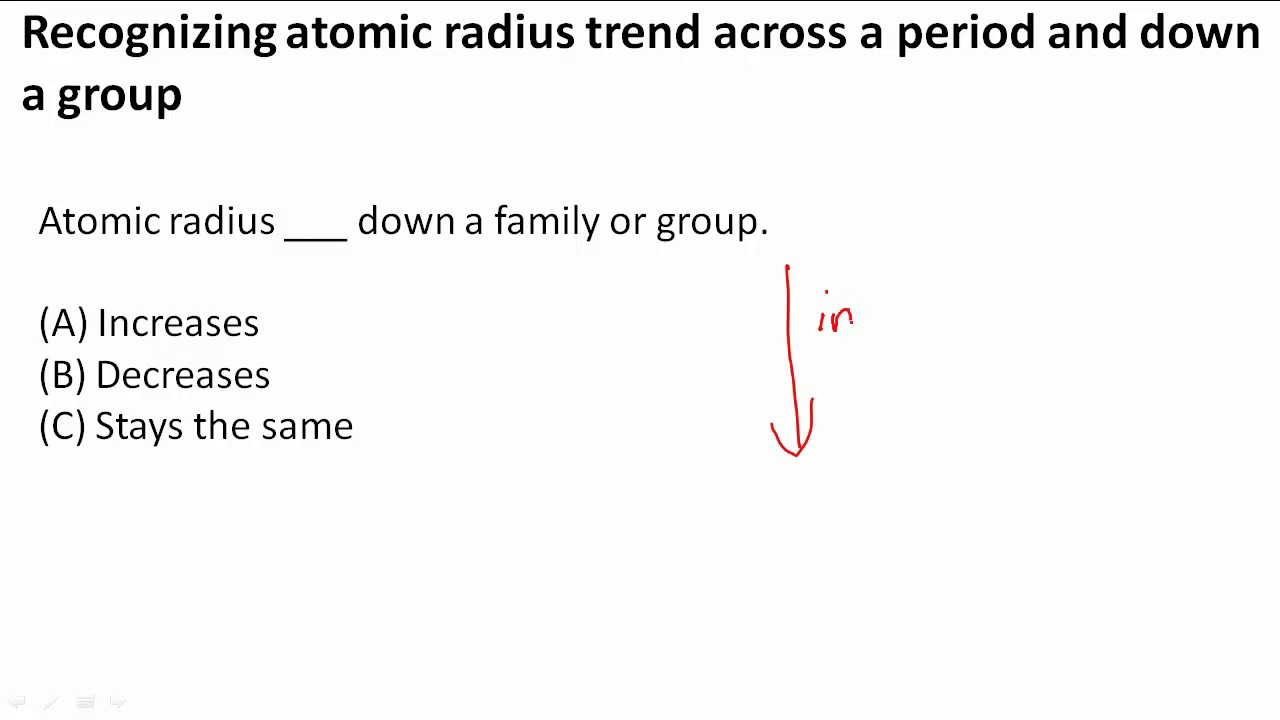 Recognizing atomic radius trend across a period and down a group recognizing atomic radius trend across a period and down a group gamestrikefo Choice Image