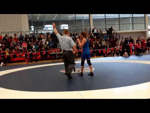 2015 Junior National Championships: 55 kg Krystin Paquette vs. Jenna Leslie