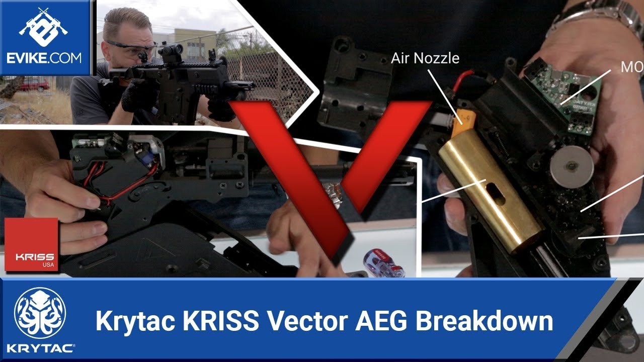 KRISS USA Licensed Kriss Vector Airsoft AEG SMG Rifle by Krytac (Model:  Black)
