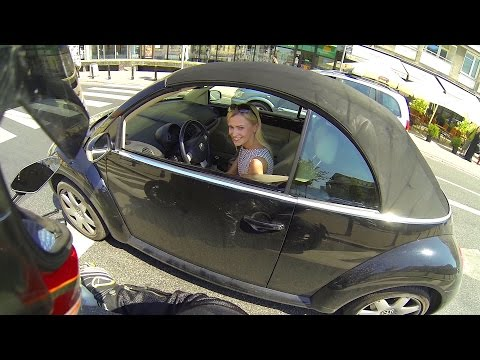 Onboard Ducati Diavel: WHO IS THAT LADY?