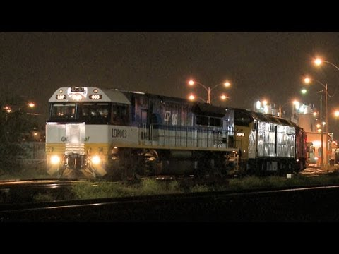 POTA Freight Train Departs Melbourne at Night - PoathTV Australian Railways, Railroads & Trains