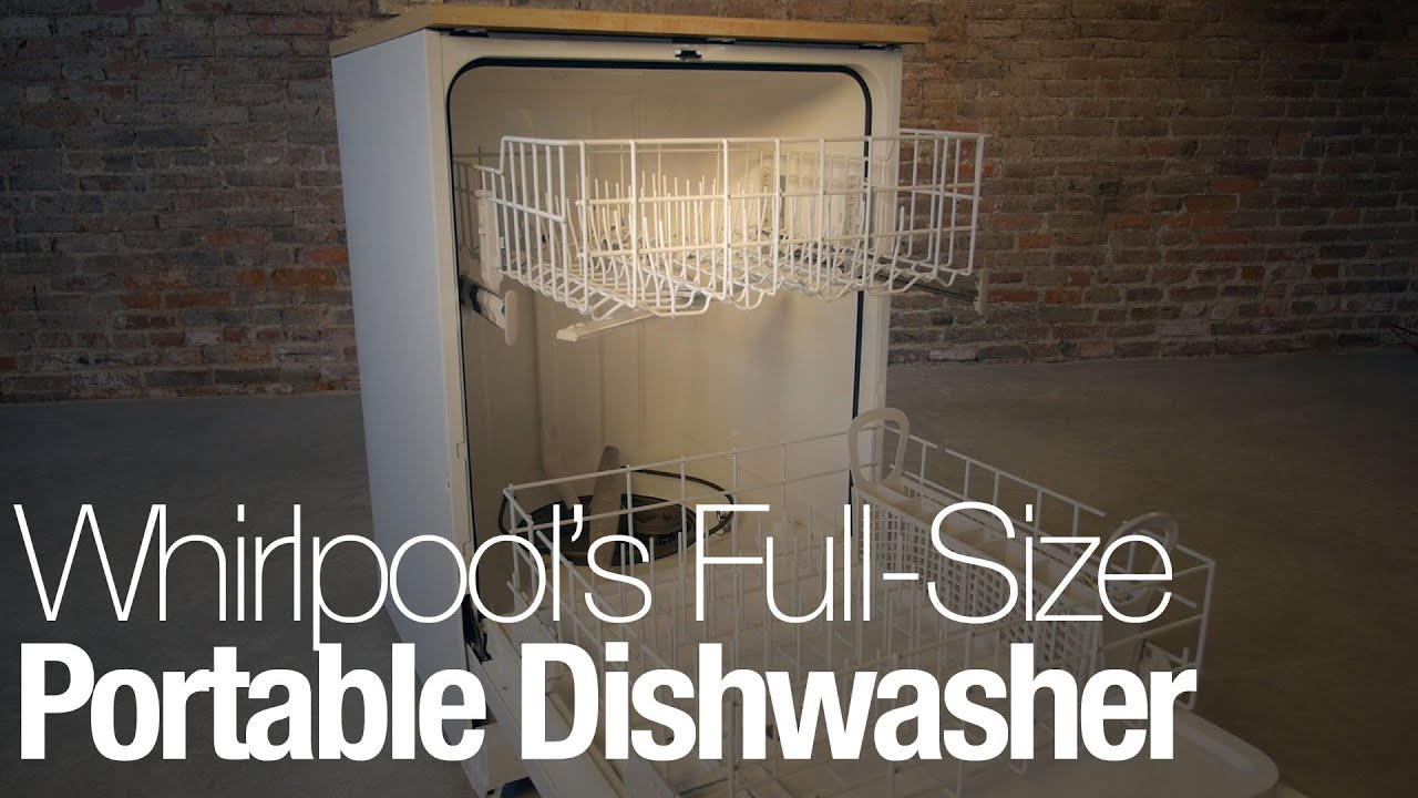 Hands-on with Whirlpool\'s portable dishwasher on wheels - YouTube