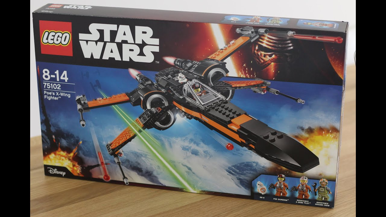 Lego star wars poe s x wing fighter review 75102 youtube - Lego Star Wars 4k Poe S X Wing Fighter 75102 Time Lapse The Force Awakens