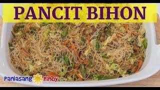 Pancit Bihon Guisado with Fried Pork Adobo