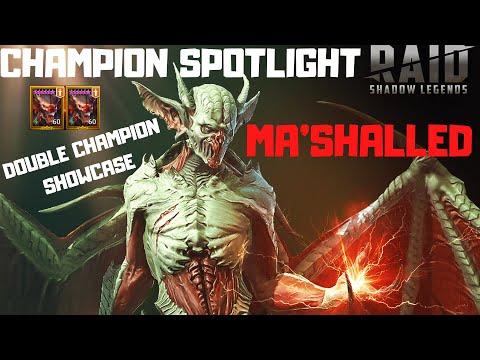 Champion Spotlight: Ma'Shalled (Double) I Raid Shadow Legends
