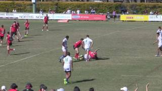 Rugby League grand final  u16s fight what would u do fight or play on