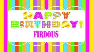 Firdous   Wishes & Mensajes - Happy Birthday