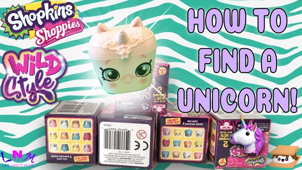HOW TO FIND THE UNICORN PET POD CUPICORN Unboxing Shopkins S9 Wild Style Blind Boxes Part 2