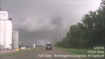 Solomon - Chapman, KS EF4 Tornado - 5/25/16 - FULL CHASE