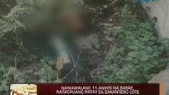 24 Oras: Nawawalang 11-anyos na babae, natagpuang patay sa bakanteng lote sa Los Baños, Laguna