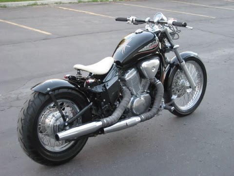 honda shadow vlx600 bobber by blue collar bobbers youtube. Black Bedroom Furniture Sets. Home Design Ideas