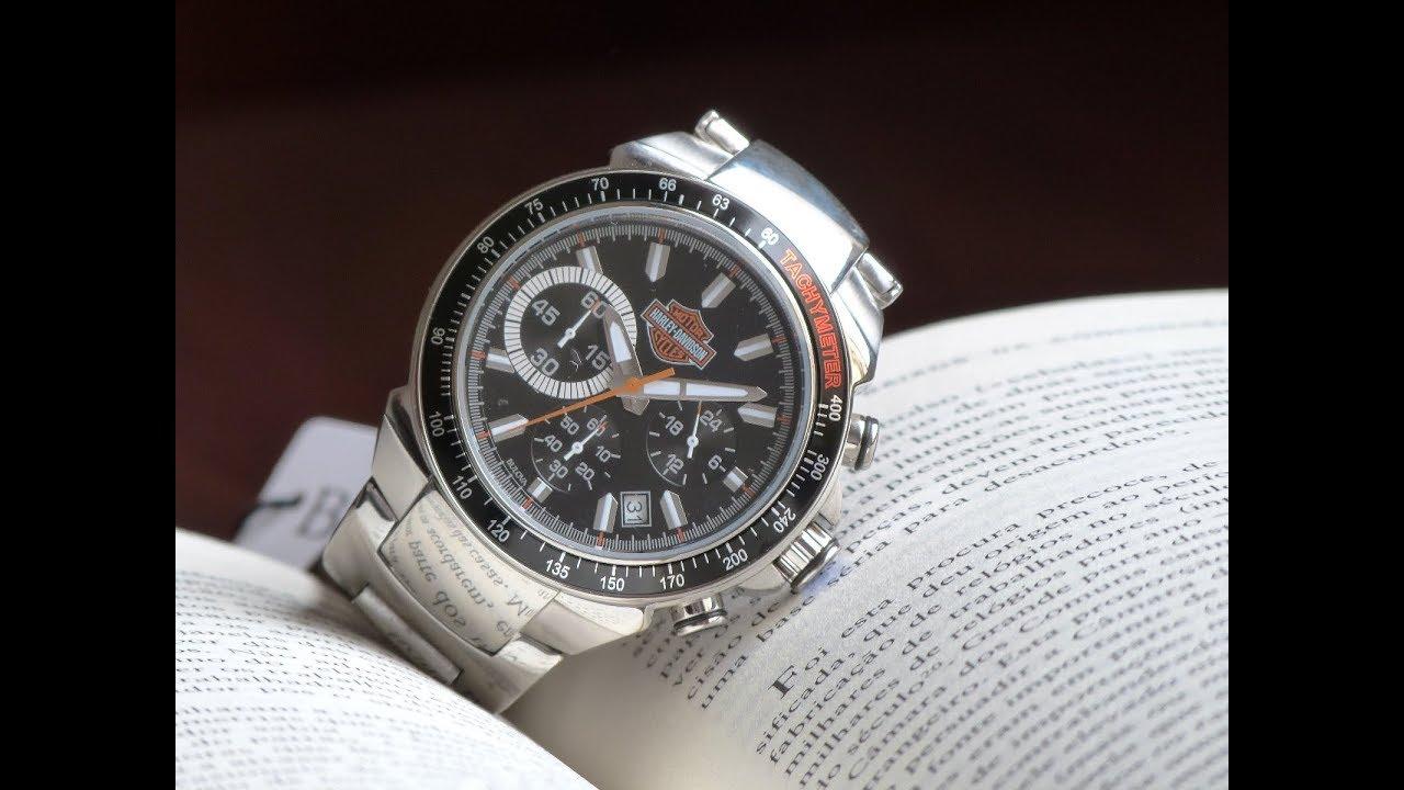81711a89326 Relógio Bulova Harley Davidson WH30288T Cronógrafo e Taquímetro Pulseira de  Aço