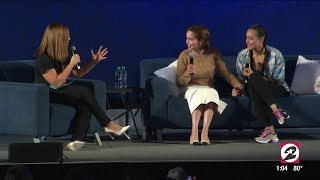 Download Emilia Clarke & Nathalie Emmanuel on their bond, Beyoncé and what happens behind the scenes at GOT Mp3 and Videos