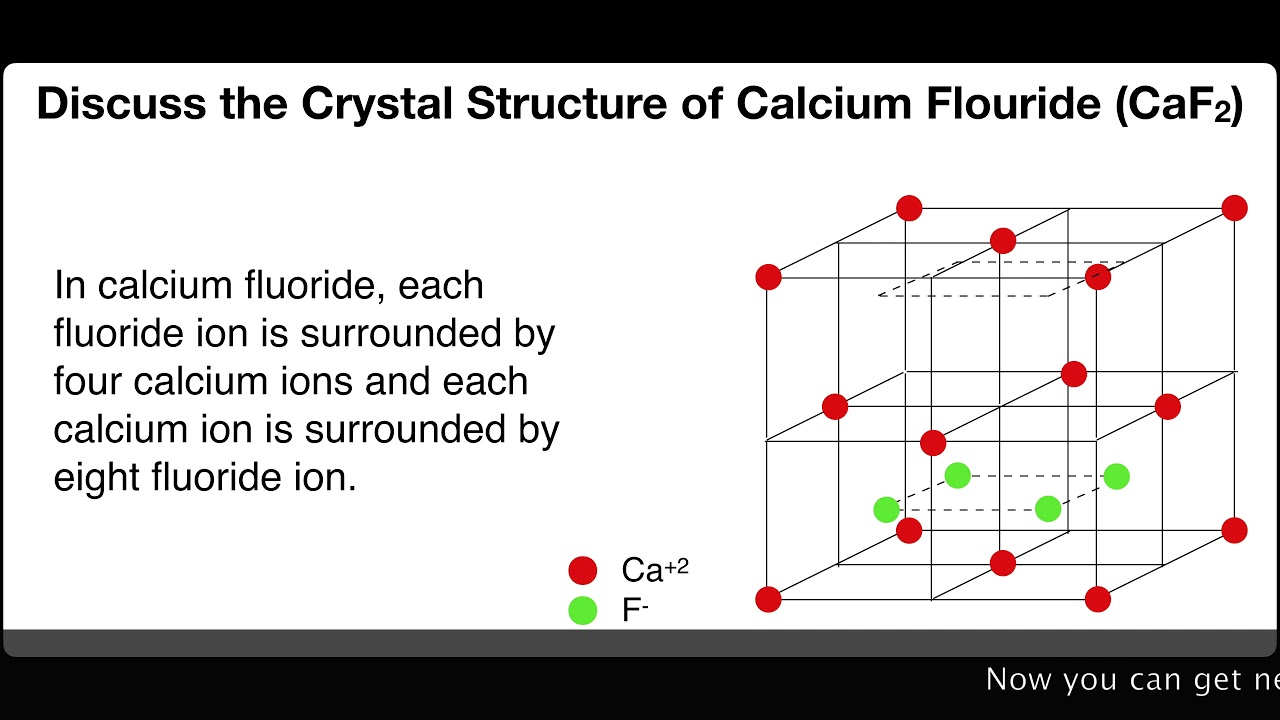 discuss the crystal structure of calcium fluoride caf2 solid