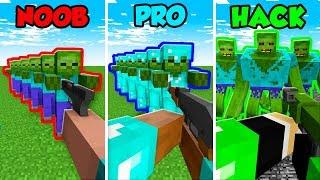 Minecraft NOOB vs. PRO vs. HACKER: ZOMBIE ATTACK CHALLENGE in Minecraft! (Animation)